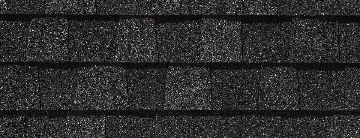 Charcoal Black roof shingle