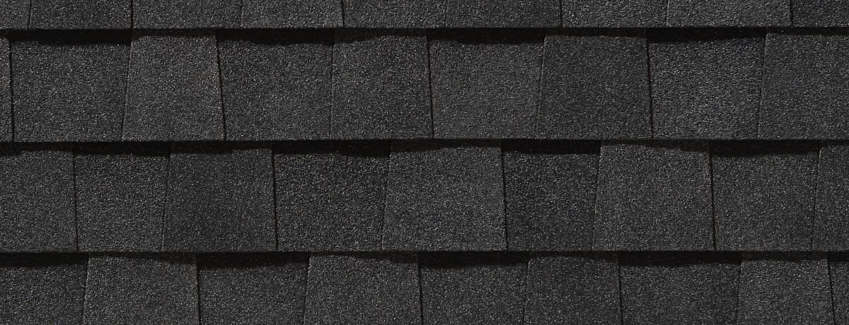 Moire Black roof shingle