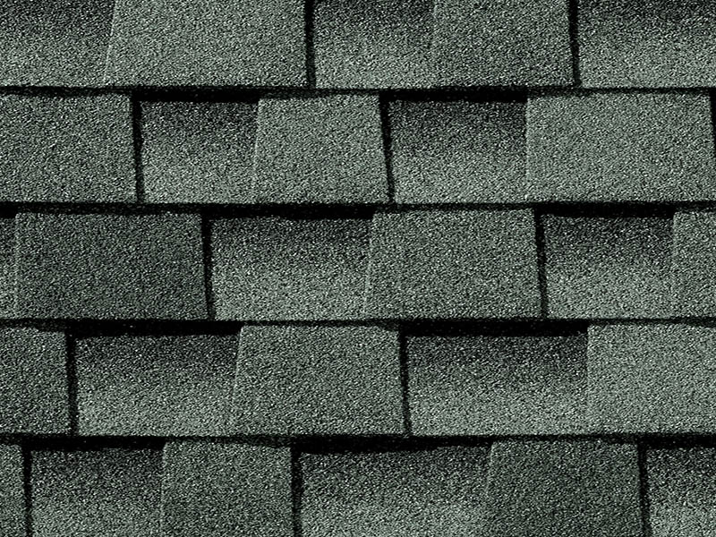 Close up photo of GAF's Timberline Ultra HD Slate shingle swatch